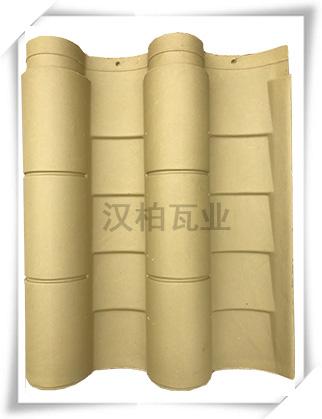 彩陶筒瓦(黄色)